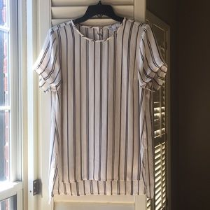 White stripped top